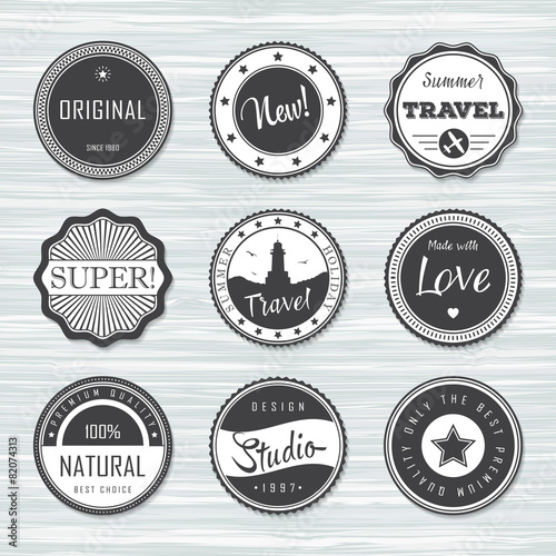 vintage labels template set super original new travel