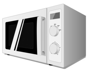 Illustration of microwave oven