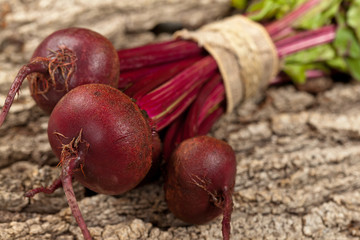 Beetroots On Wooden Background. Selective focus.