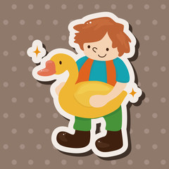 Golden Goose with little boy theme elements