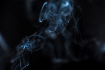 Mythical creature from smoke.
