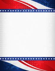 Grunge USA 4th of july frame