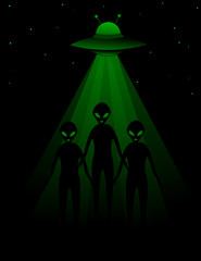 Aliens and UFO background