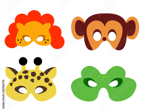 picture relating to Lion Mask Printable known as Animal mask printable\