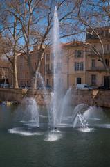 Poster Fontaine Jardin de la fontaine, Nîmes.