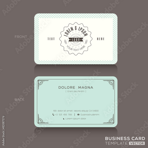Quotretro hipster business card templatequot stock image and for Hipster business card