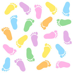 Baby footprints seamless