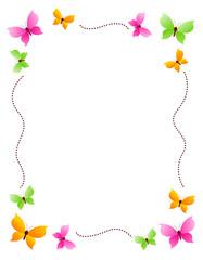 Butterfly frame, border