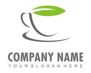 cup coffee or tea logo image vector