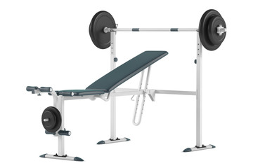 Barbell bench isolated