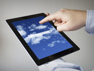 online search application on a tablet