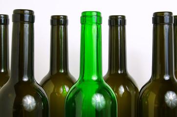 Glass bottles for industrial utilization.
