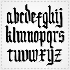 Gothic alphabet font. Vector