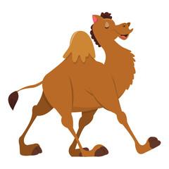Cartoon Happy Camel Walking