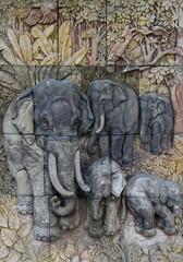 Elephants on the wall