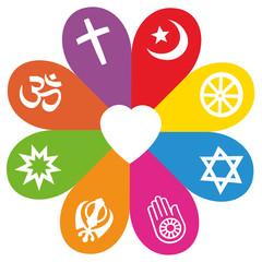 Religion Symbols Flower Love Colors