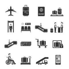 Airport travel icons