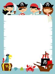 Retro Pirate Adventure copy space Background