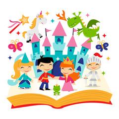 Retro Magical Fairytale Kingdom Story Book