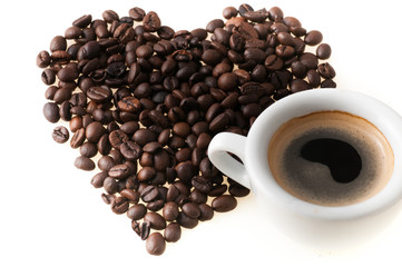 heart with coffee cup