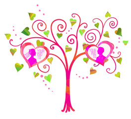 Vector love tree