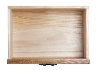 Fototapeta Empty wooden drawer obraz