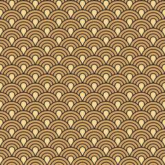 Art Deco seamless vintage wallpaper vector pattern