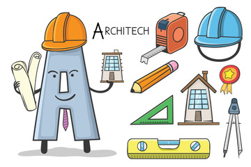 alphabet occupation - Letter A for Architect