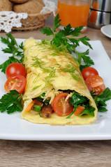Omelet stuffed   vegetables