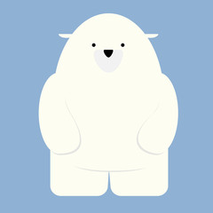 illustration of a polar bear standing on two legs