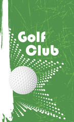 Golf club vertical banner