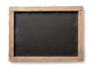 blackboard with aged wooden frame