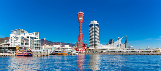 Panorama view of Kobe tower