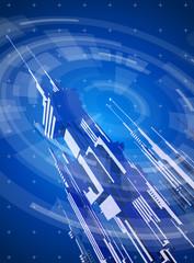 blue technology illustration - megapolis