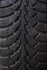 The image of a car tire texture