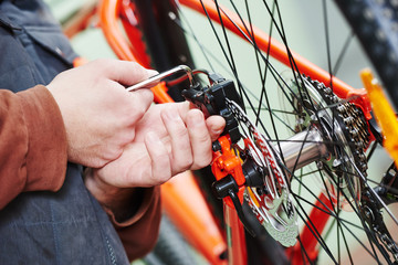bicycle repair or adjustment