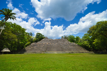 Caana pyramid at Caracol archeological site in Western Belize