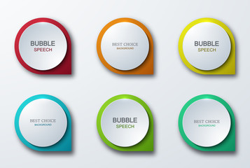 Vector modern colorful bubble speech icons set