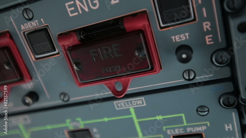Cockpit cabin  Pilot switch controls aircraft Airbus A320