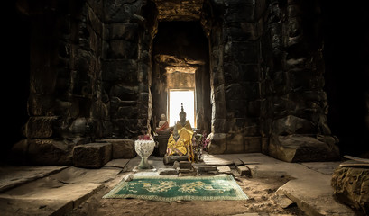 Ta Prohm buddhism offer Wall mural