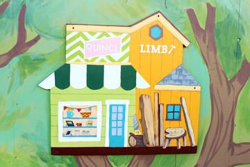 家具屋の看板アート
