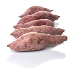 Japanese sweet potato over white background