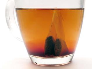 teabag steeping in tea