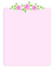 Pink roses invitation background / frame