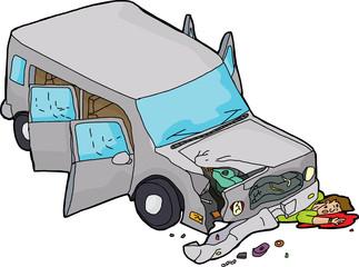 Injured Man Under SUV