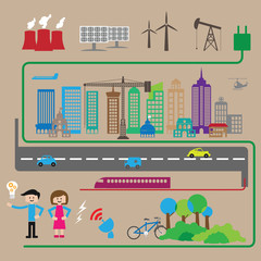 City energy and transportation