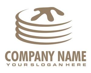 pancake logo image vector