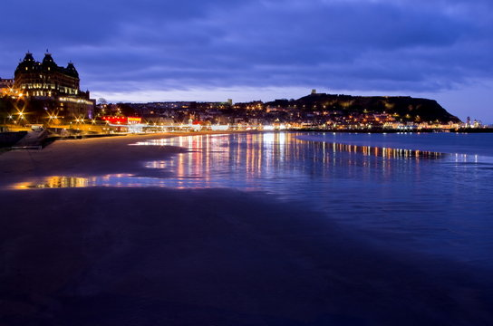 Scarborough South bay in evening Light