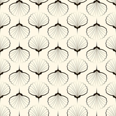 Seamless pattern, graphic ornament. Vector repeating texture wit