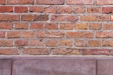 alte Backsteinmauer Wand